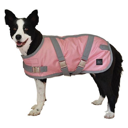 ZEEZ SUPREME DOG COAT Flamingo Pink/ Grey