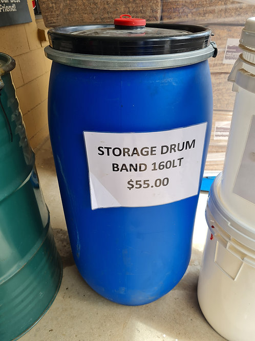 160Lt Storage Drum with band