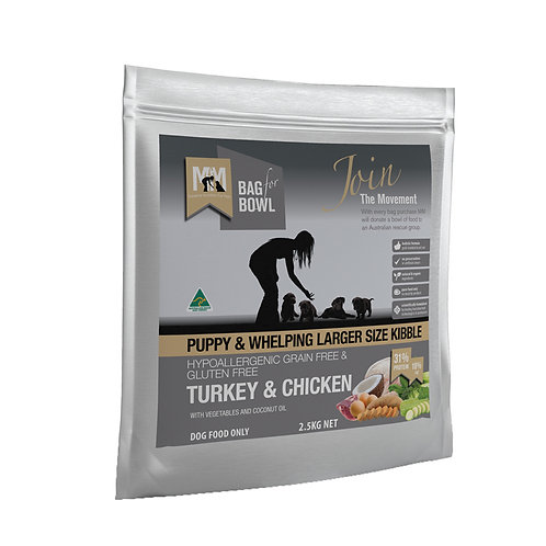 Meals For Mutts Grain Free Turkey And Chicken Large Kibble For Puppy 2.5kg
