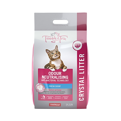 Trouble and Trix Crystal Litter Anti Bacterial 15L