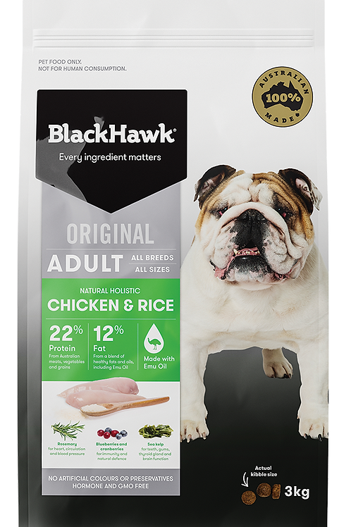 Blackhawk Chicken & Rice 20kg