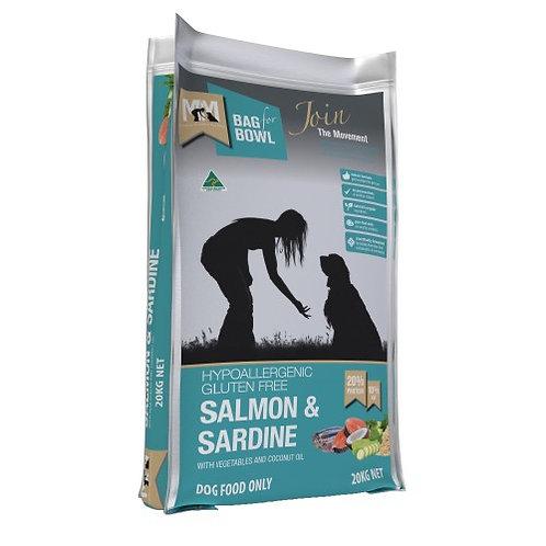 Meals For Mutts Dog GF Salmon & Sardine 20KG BLUE
