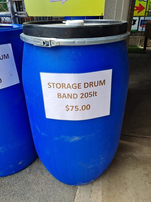 205 Lt Storage Drum with band - Food Grade