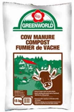 5 for $25 Greenworld Cow Manure 25lt