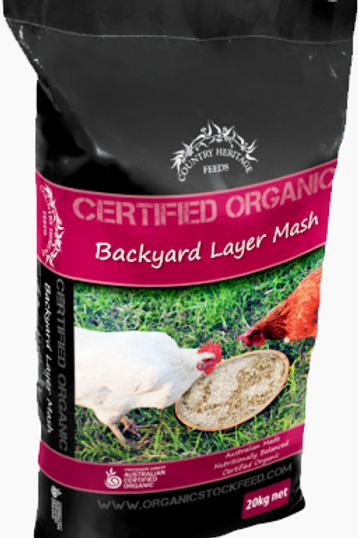 Country Heritage 20kg Organic Backyard Layer Mash for Chickens