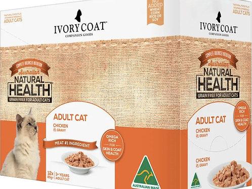 Ivory Coat Cat Food Chicken in Gravy / 12 x 85g Sachets