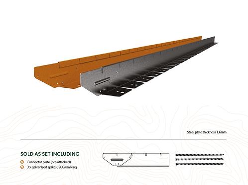 Straight Curve Flexline 75mm x 2.2m Weathered Steel