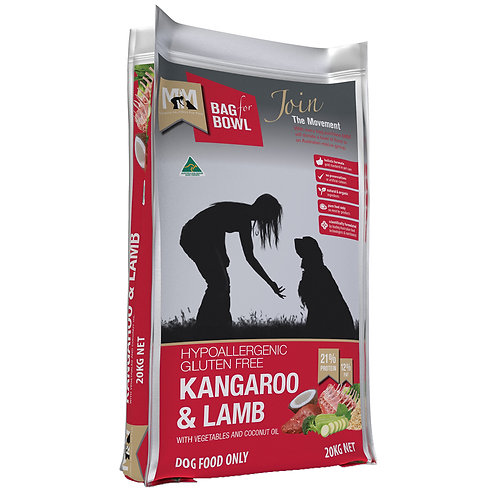 Meals For Mutts Kangaroo And Lamb Adult Dry Dog Food 20kg