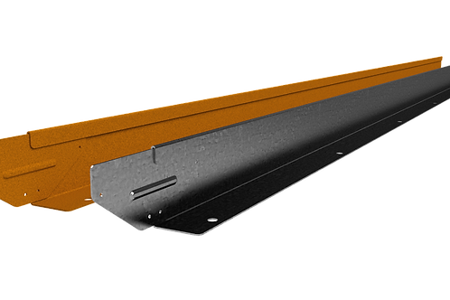 Straight Curve Rigidline 75mm x 2.2m Weathered Steel