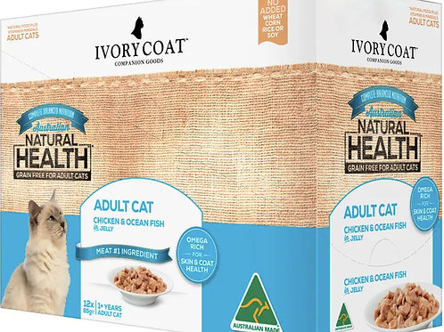 Ivory Coat Cat Food Chicken & Ocean Fish in Jelly / 12 x 85g Sachets