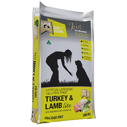 Meals For Mutts Turkey And Lamb Lite Adult Dry Dog Food 20kg