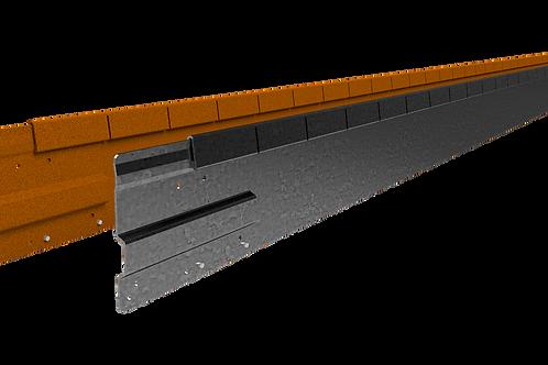 Straight Curve Flexline 100mm x 2.2m Galvanised Steel