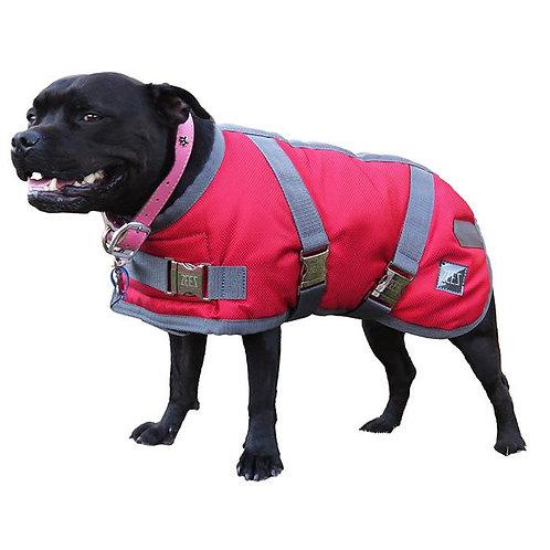 ZEEZ SUPREME DOG COAT Ruby Red/ Grey