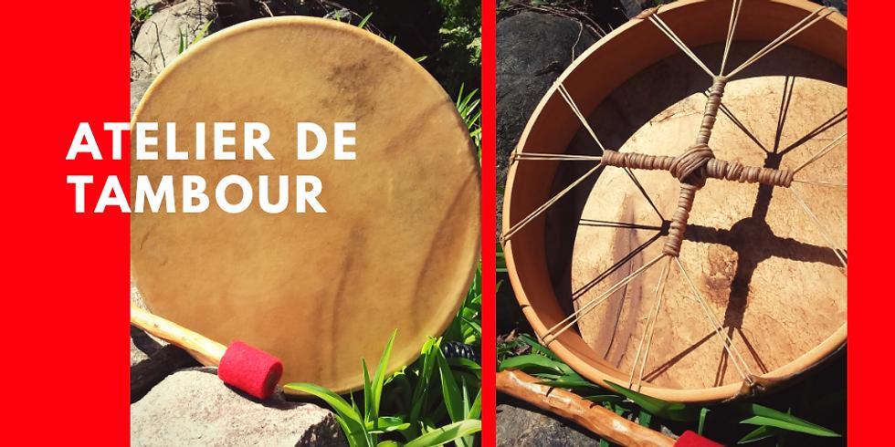 Fabrication de tambour dans les bois