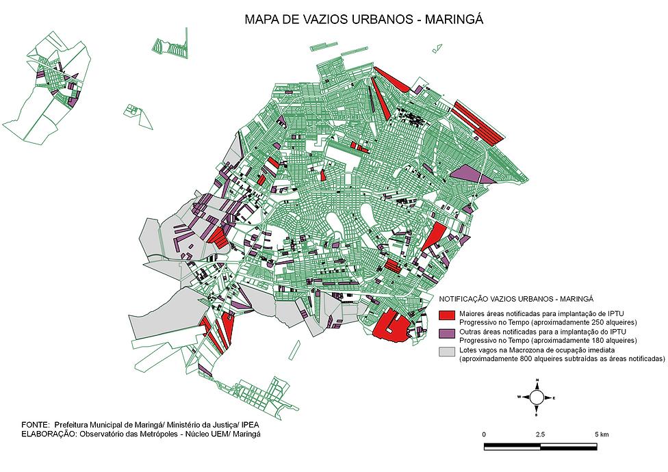 MAPA DE VAZIOS URBANOS MARINGA ATUALIZAD