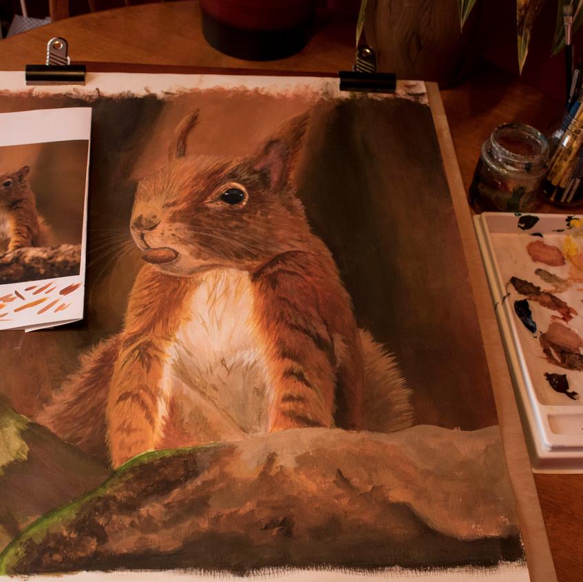 Latest Artwork_ Red Squirrel _ 01