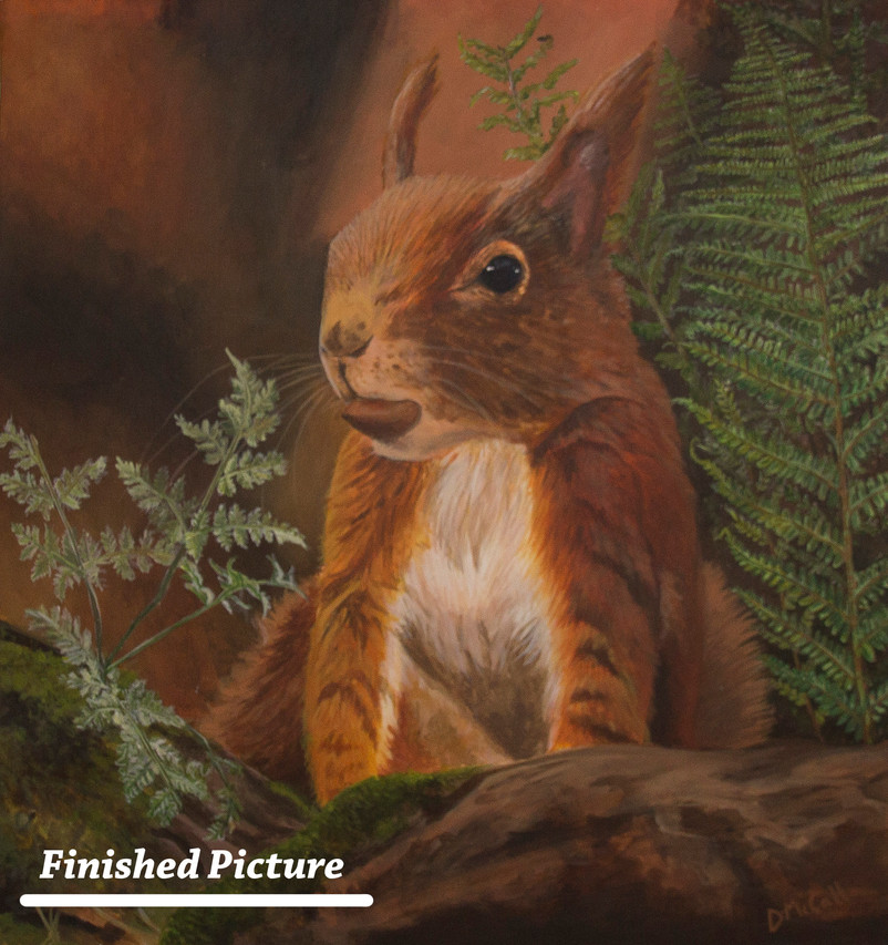 Red Squirrel Painting_ Finished 3