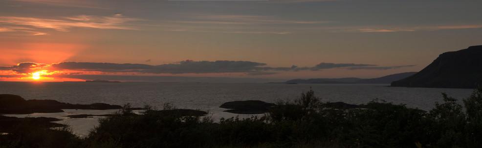 Sunset, Leob Croft, Mull, Scotland