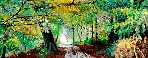 Clumber Park at Autumn Print on Canvas