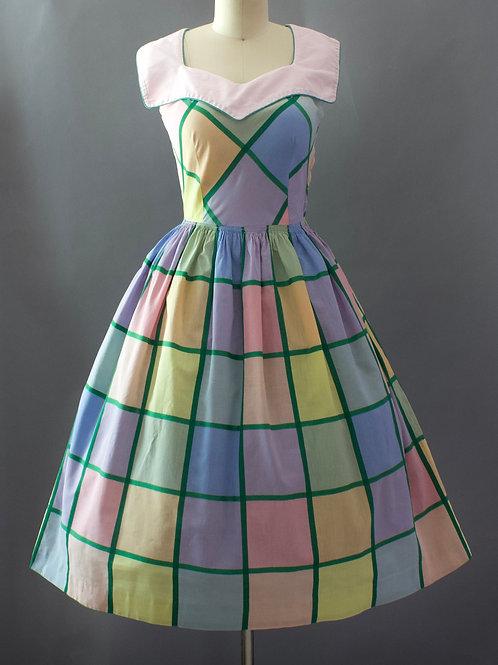 Pastel Gingham Dress