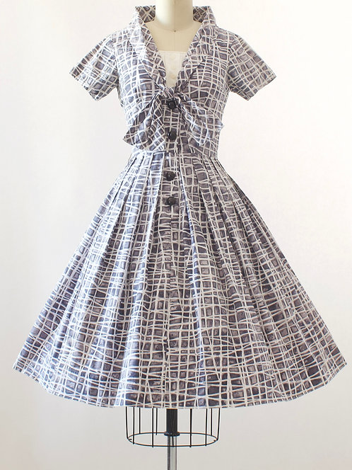 Patterned Cotton Day Dress