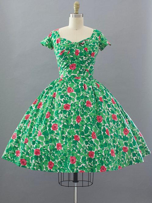 Jerry Parnis Rose Print Dress