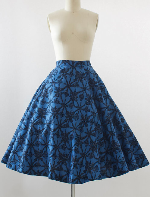 Dragonfly Print Cotton Skirt
