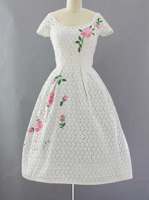 Applique Rose Dress