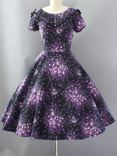 Violet Sprays Dress