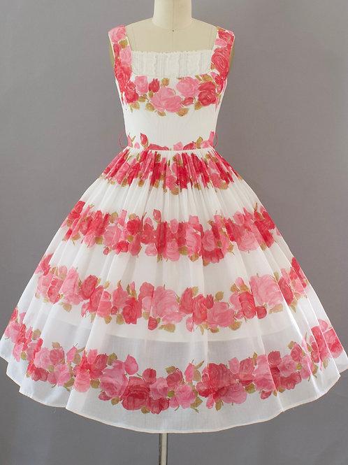 Romantic Rose Print Day Dress