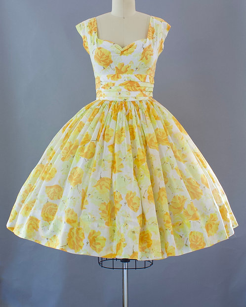 Autumnal Rose Print Dress