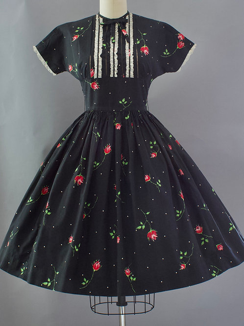 Sweet Rose Print Dress
