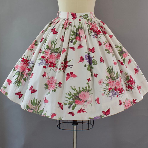 Butterfly Floral Skirt