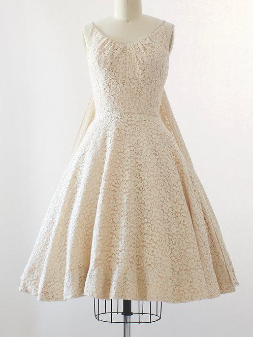 Lace Cape Party Dress