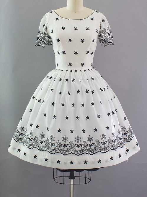 Starry Embroidered Dress