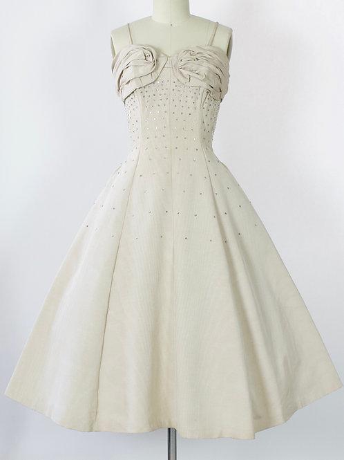 Rosette Bust Party Dress