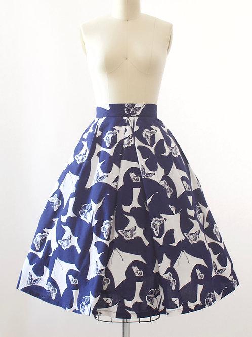 Butterfly Cotton Skirt