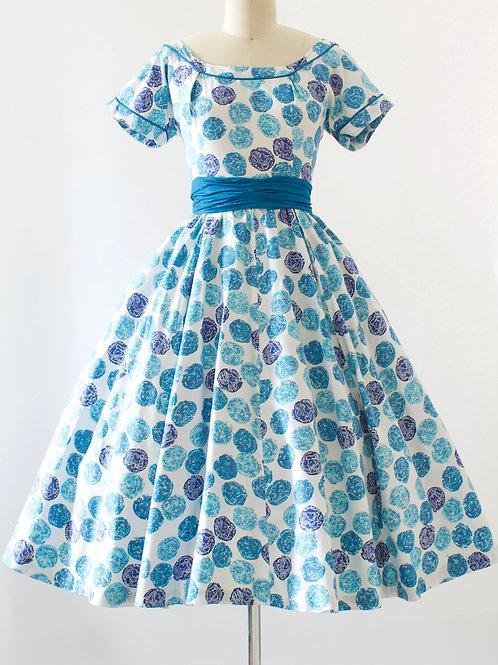 Coin Print Cotton Dress