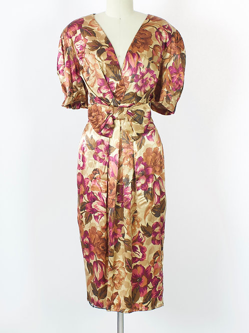 Floral Rayon Party Dress