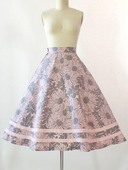 Daisy Print Cotton Skirt
