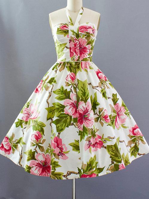 Alex Colman Hawaiian Halter Dress