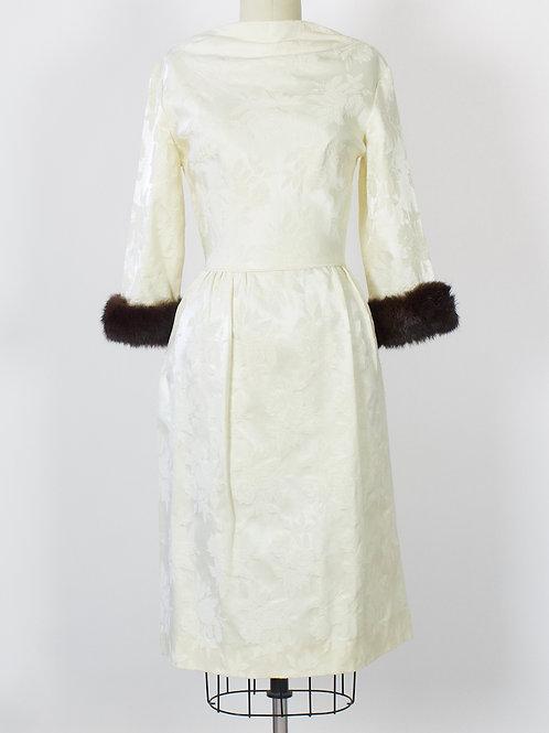 Rose Brocade Sheath Dress