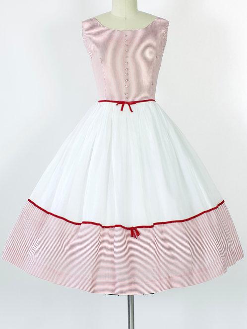 Striped Cotton Organdy Dress