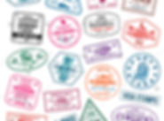 stock-vector-set-of-visa-stamps-for-pass