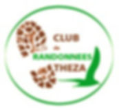 Logo du club de randonnées pédestres de Théza : une trace marron et un oiseau vert.