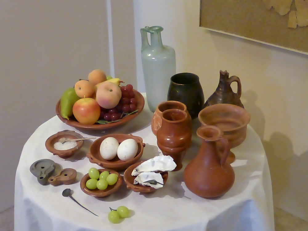 Roman food on what I'm told is Samian ware