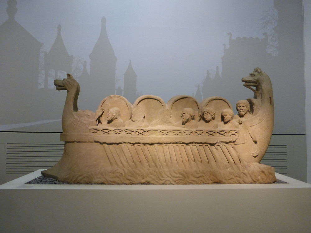Wein Schif or Roman river boat (with a cargo of asparagus maybe?)