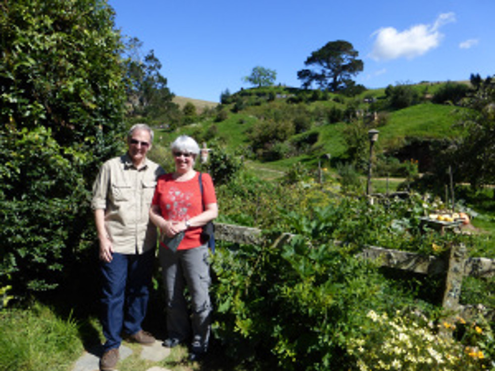 David and I before Hobbiton