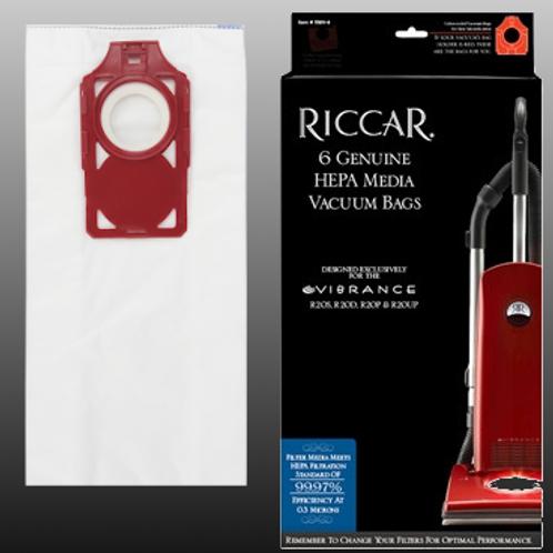Riccar Vibrance HEPA Bags 6 Pack