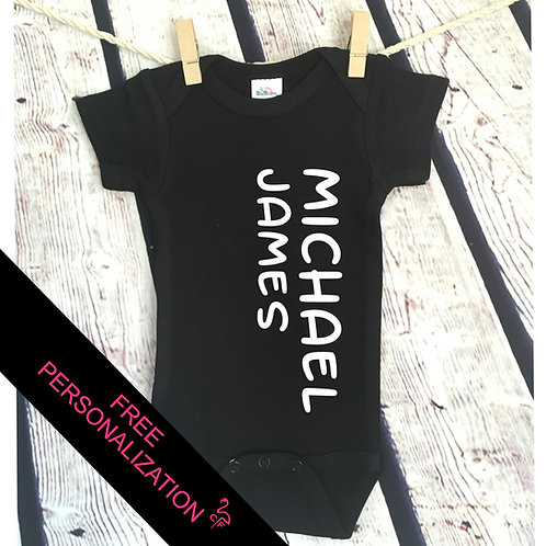 Name Personalized Coming Home Outfit bodysuit
